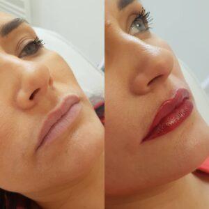 Makijaż permanentny usta Brwi Ombre