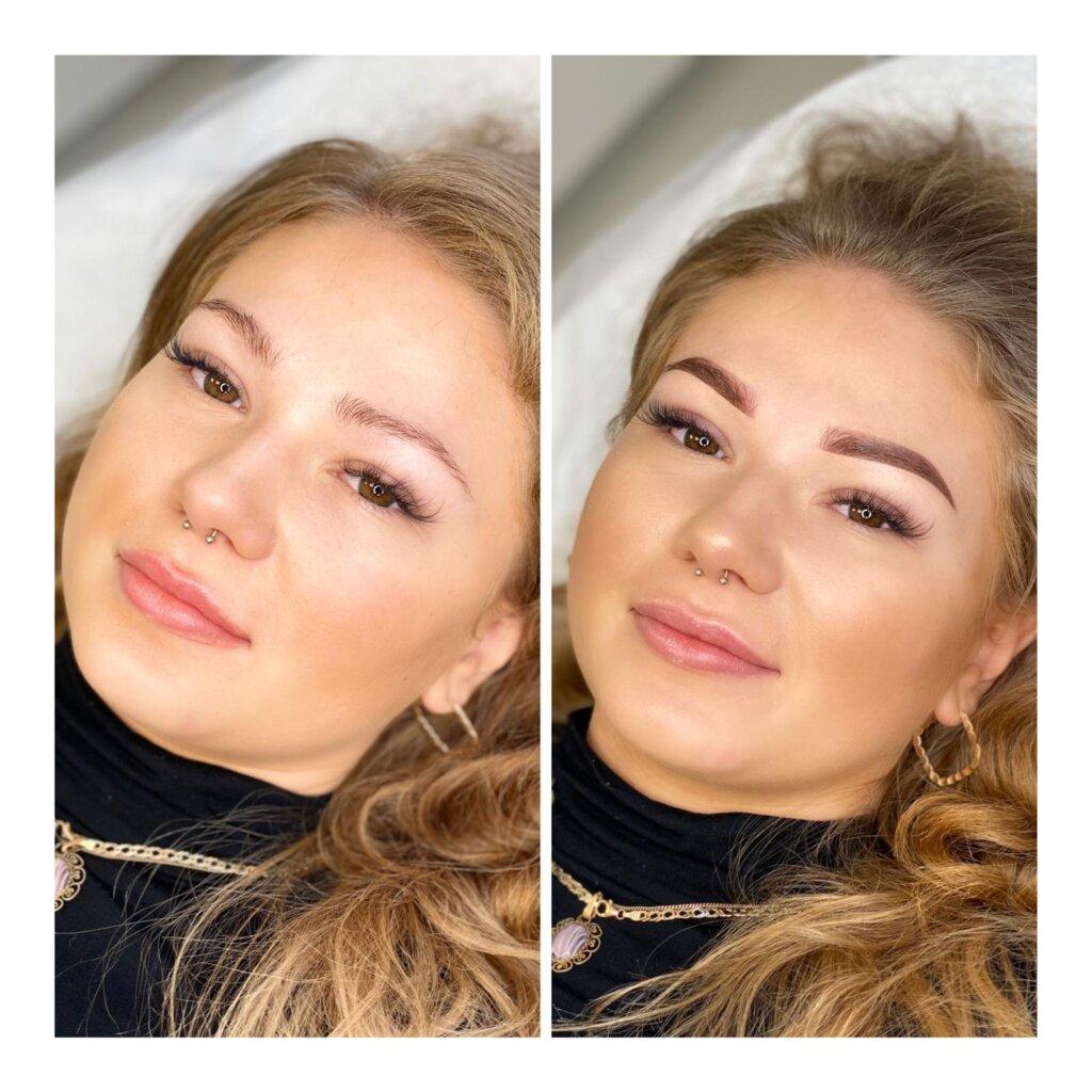 permanentny brwi makijaż permanentny brwi ombre